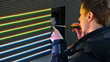 Экономия на цветном LED экране, результаты